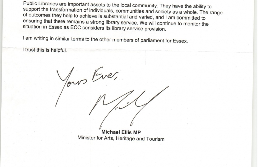 Letter from DCMS Minister Michael Ellis MP, page 2