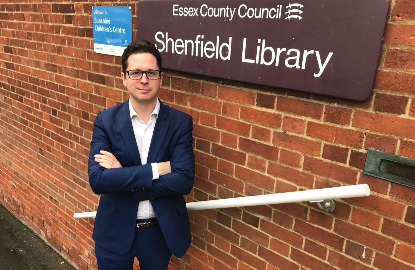 Alex Burghart MP at Shenfield Library