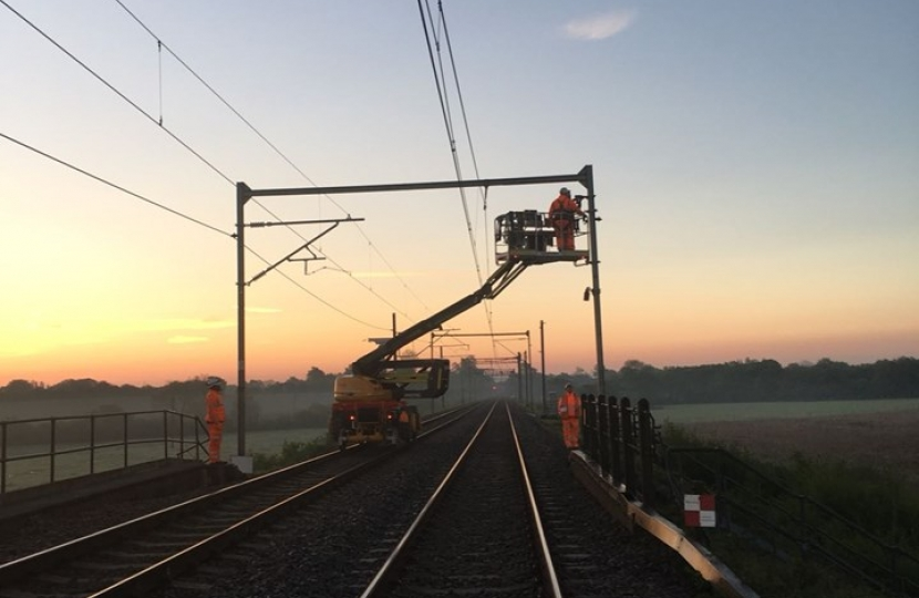 Overhead Line work - Photo Credit: Network Rail