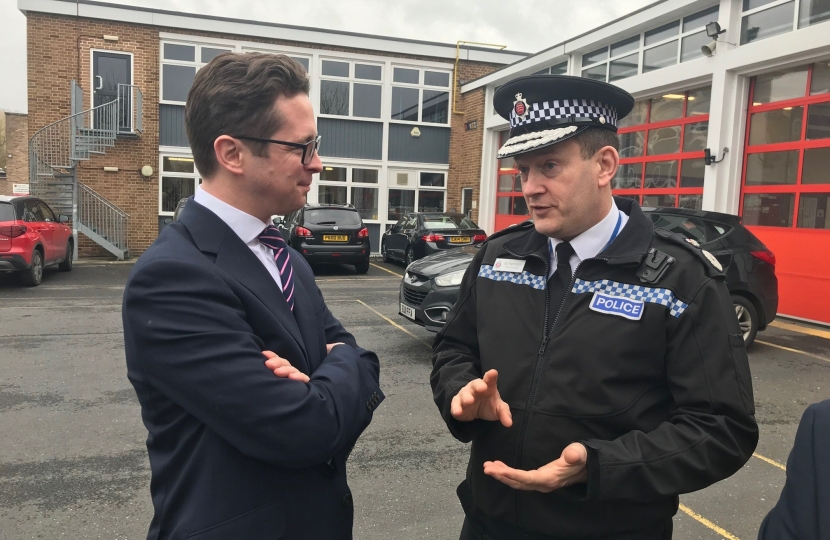 Alex Burghart MP with Essex Chief Constable BJ Harrington