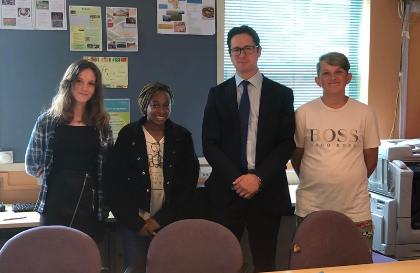 Alex Burghart visits NCS volunteers in Brentwood