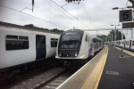 Elizabeth Line Train draws into Shenfield