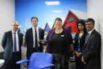 Alex Burghart MP with EPUT Chief Executive, Sally Morris and staff
