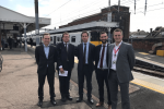 Alex Burghart MP with TfL, Network Rail and Greater Anglia Representatives