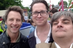 Chesney Hawkes, Alex Burghart MP, Cllr Mark Reed