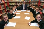 Alex Burghart MP with Ingrave Johnstone Primary School Council.