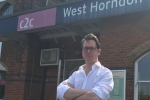 Alex Burghart MP at West Horndon Station