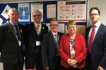 Alex Burghart MP with secondary school headteachers from Anglo European School, Becket Keys, Brentwood Ursuline High School, Shenfield High School